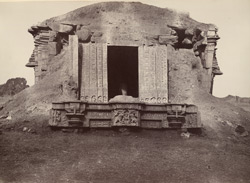 Hungul. Detached temple, with lintel of the doorway. [Hangal.]